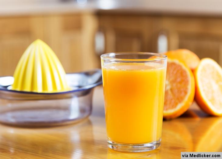 Le jus d'orange naturel
