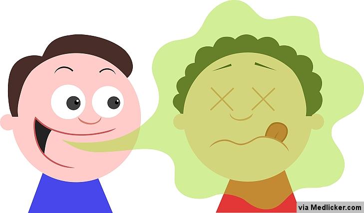 zápach z úst - ilustrácia