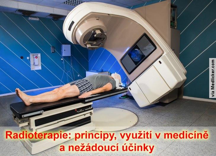 Muž na radioterapii
