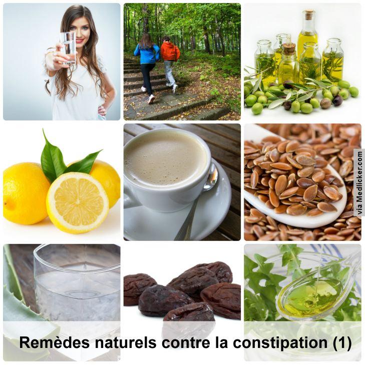 Remèdes naturels contre la constipation