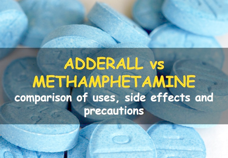What is the difference between adderall and methamphetamine?