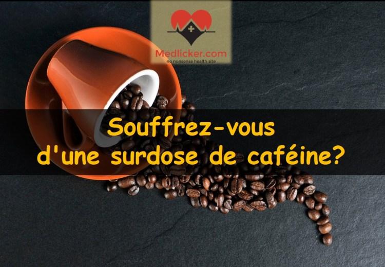 Souffrez-vous d'une surdose de caféine?