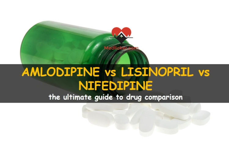 Amlodipine vs Lisinopril vs Nifedipine