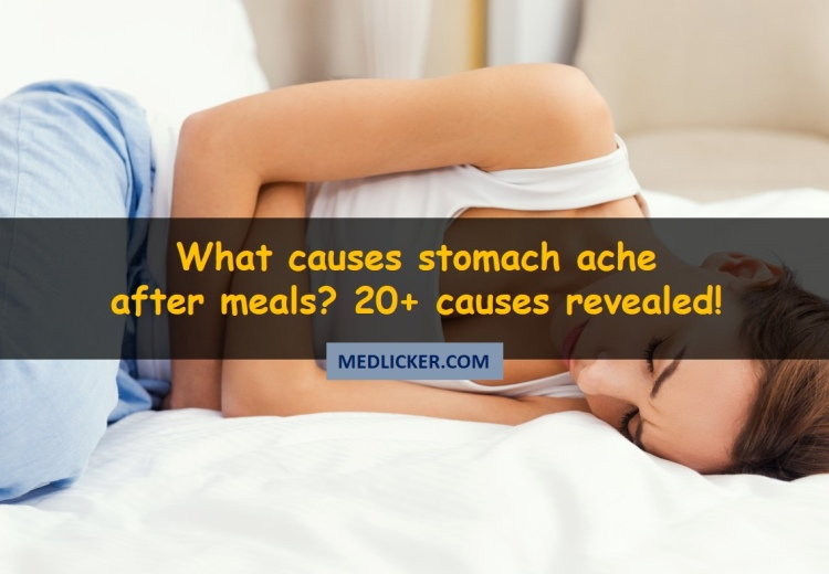 What causes stomach ache after meals?
