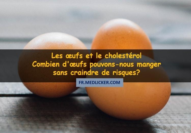 Les œufs et le cholestérol - Combien d'œufs pouvons-nous manger sans craindre de risques?