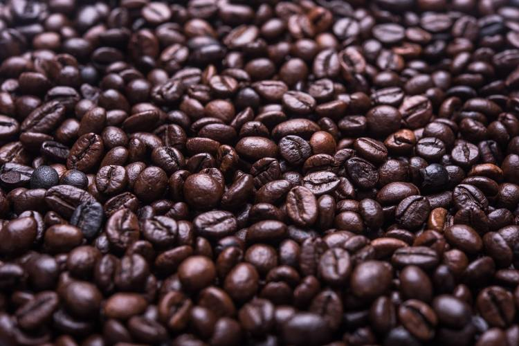 Coffee beans as source of caffeine