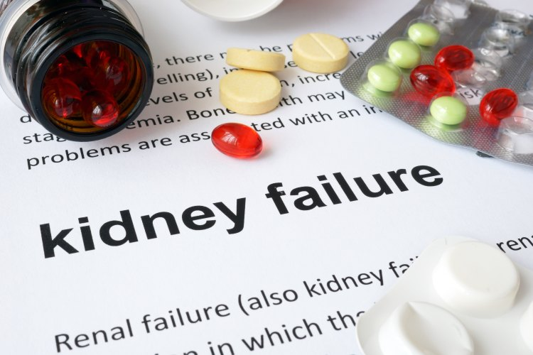 Kidney failure caused by medicine