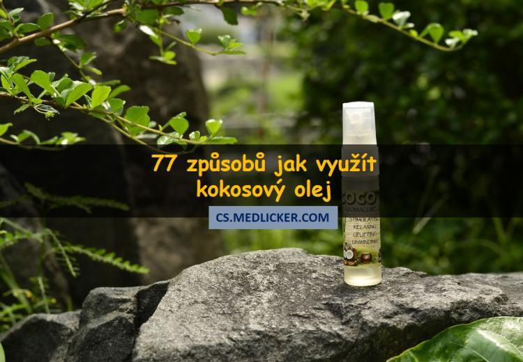 77 možností jak používat kokosový olej