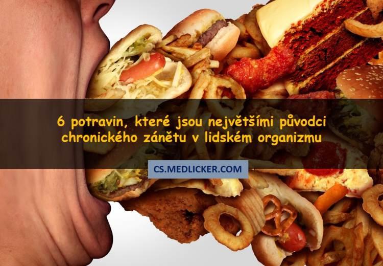 6 druhů potravin, které vyvolávají chronický zánět