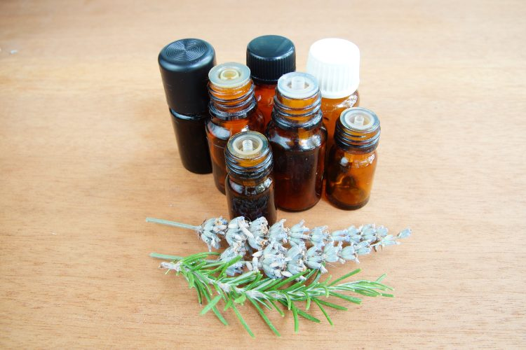 Essential oils in flasks