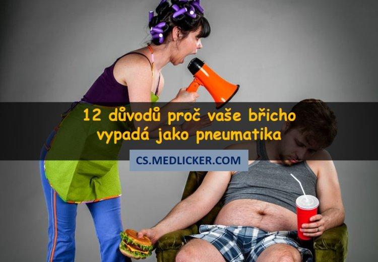 12 důvodů proč máte tlusté břicho?