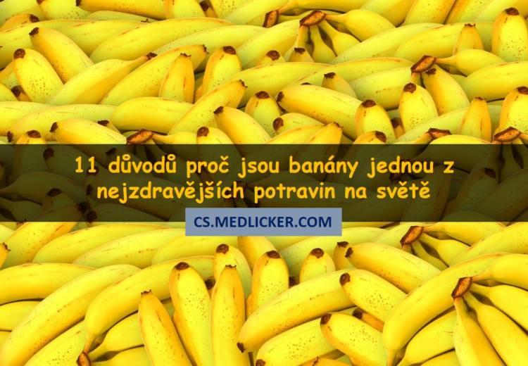 Jaké vitamíny a živiny obsahují banány? A jak působí na naše zdraví?