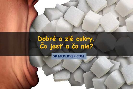 Dobré a zlé cukry - čo jesť a čo nie?