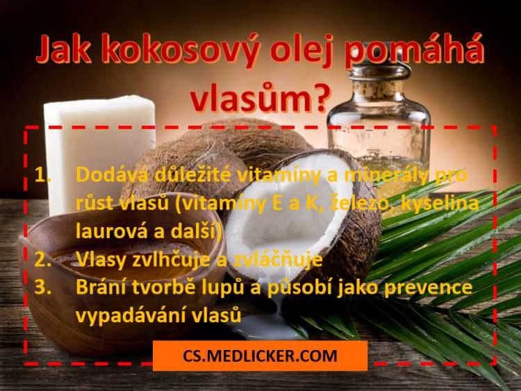 jak kokosový olej pomáhá vlasům
