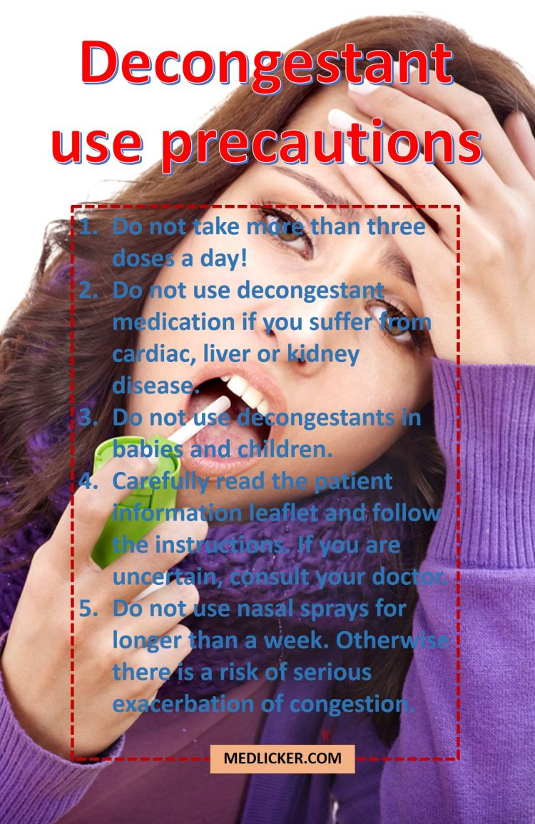 Decongestant use precautions
