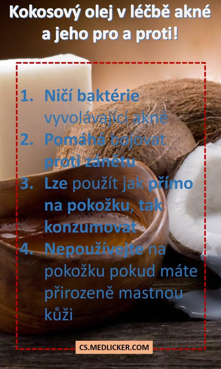 Kokosový olej a jeho výhody a rizika při léčbě akné