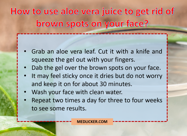 How to use aloe vera as a brown spot cure?