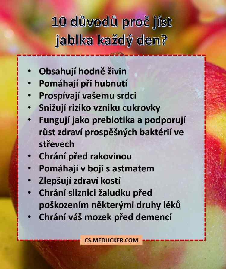 Proč jíst jablka?