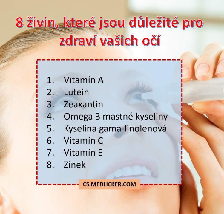 8 živin důležitých pro zdraví vašich očí