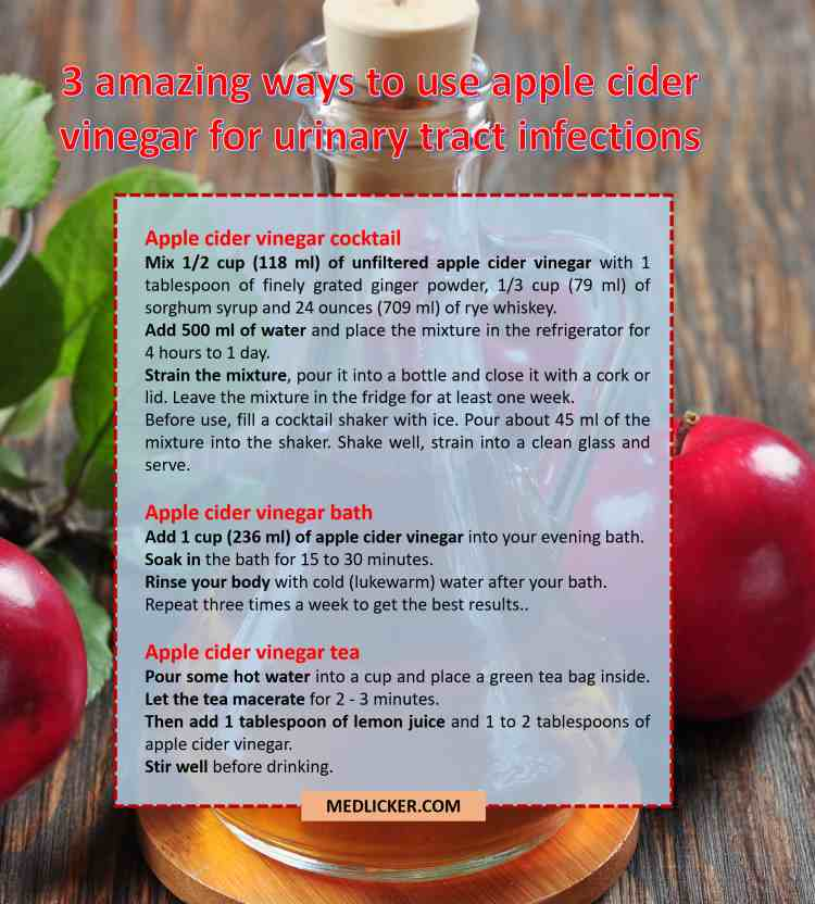 Three amazing uses of apple cider vinegar in treatment of urinary tract infections
