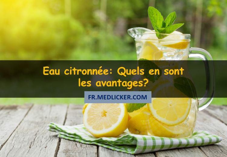 Eau citronnée et la santé