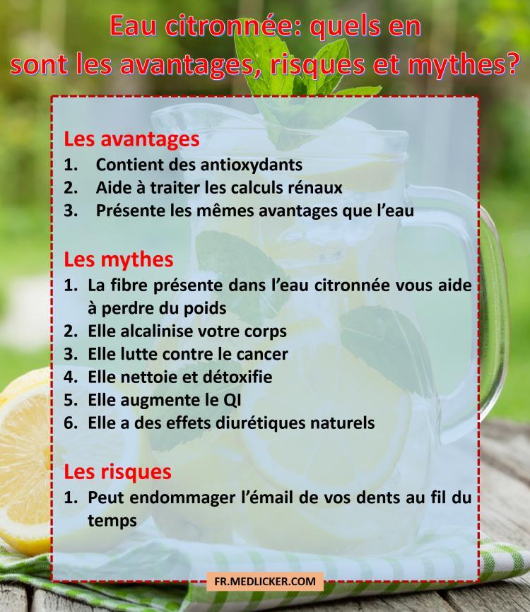 Eau citronnée: les avantages et les mythes
