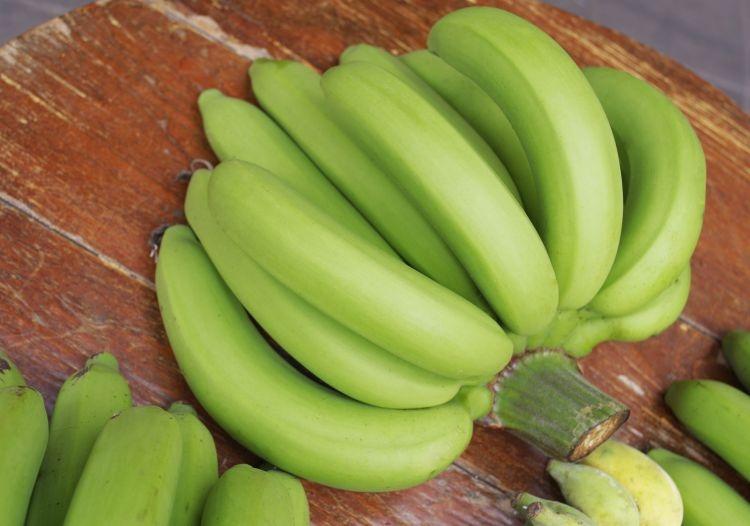Les bananes vertes non mûres sont une bonne source d'amidon résistant