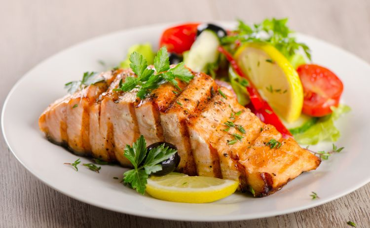 Salmon is rich in omega-3 fatty acids, which are known to reduce cardiovascular risks