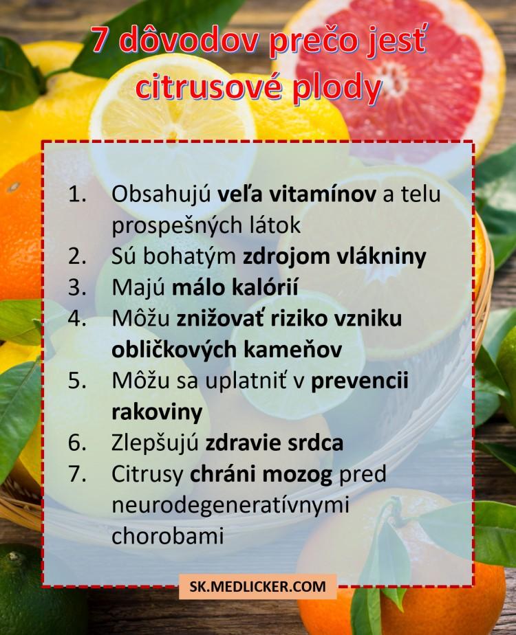 7 dôvodov prečo jesť citrusové plody