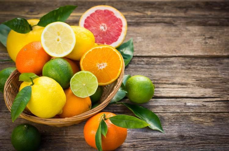 Citrus fruits and oranges are high in folic acid