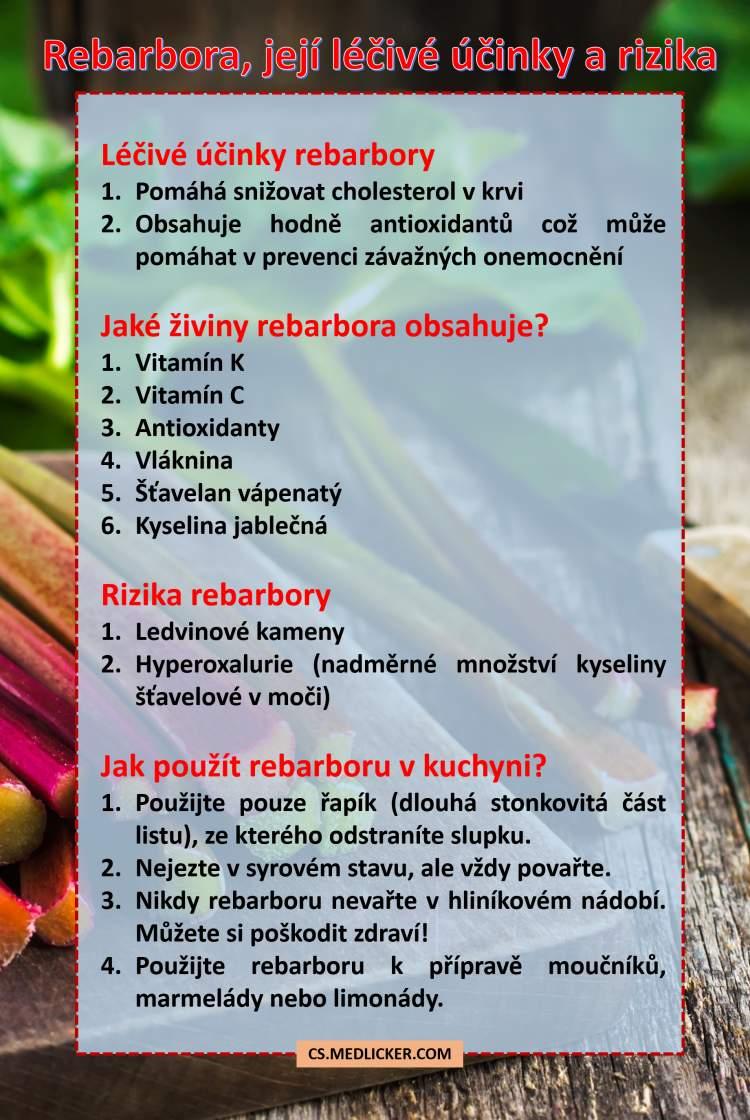 Léčivé účinky rebarbory, její rizika a použití