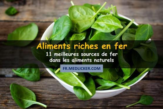 11 aliments sains très riches en fer