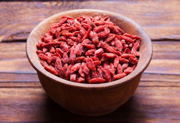 Sušené plody kustovnice čínské obsahují hodně antioxidantů