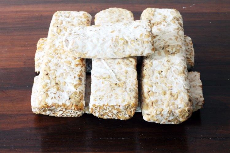 Le Tempeh est un produit alimentaire à base de soja, riche en probiotiques