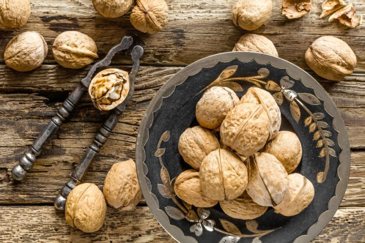Walnuts are rich in arginine, omega-3 fatty acids and other nutrients