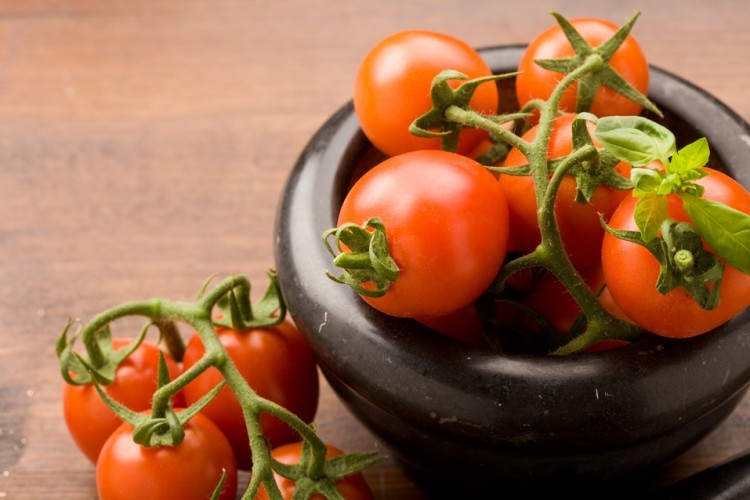 Tomatoes are rich in lycopene, a strong antioxidant
