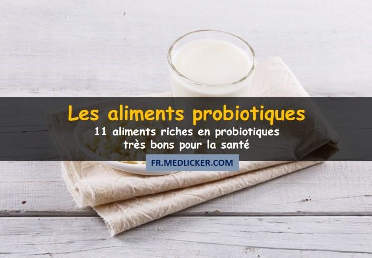 aliments fermentés riches en probiotiques