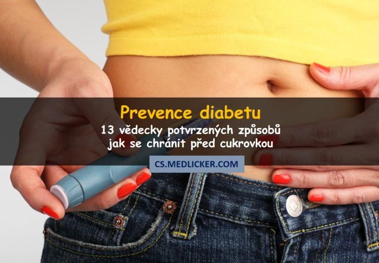 13 možností prevence cukrovky