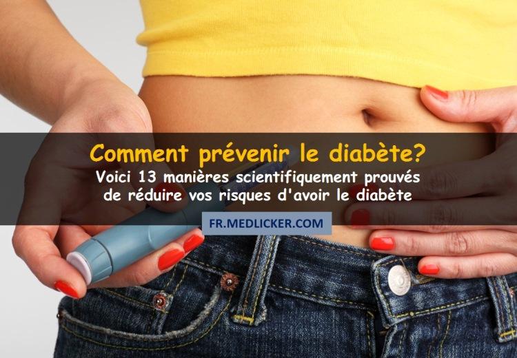 13 manières de prévenir le diabète