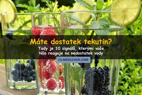 10 známek a projevů dehydratace