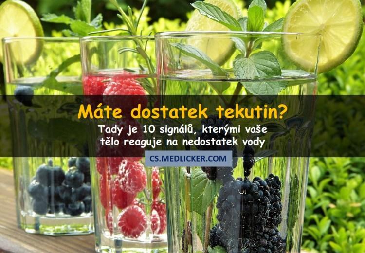 Co je dehydratace a jaké jsou její příznaky a projevy?