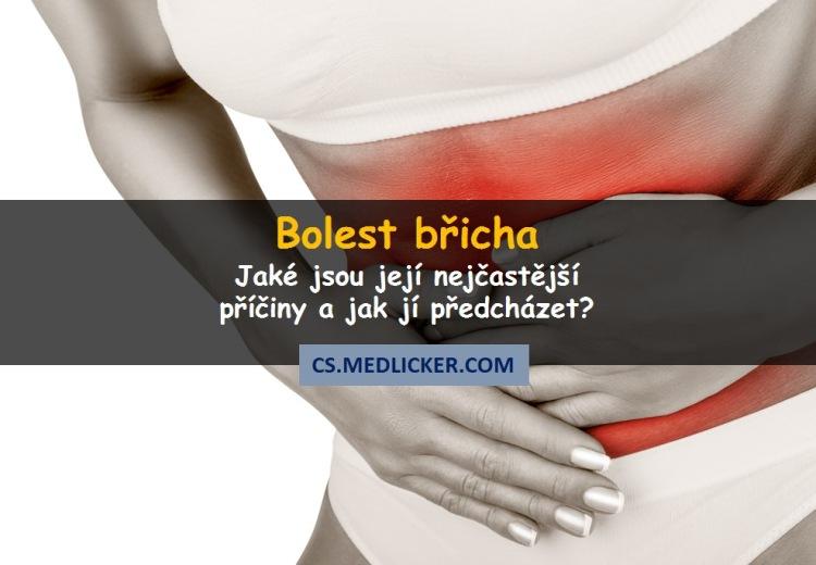 Nejčastější příčiny bolesti břicha