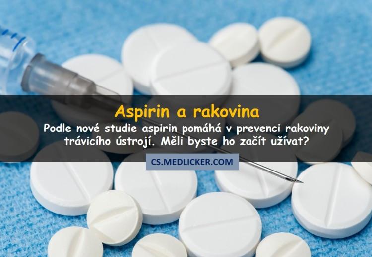 Dlouhodobé užívání aspirinu může snížit riziko rakoviny trávicího ústrojí