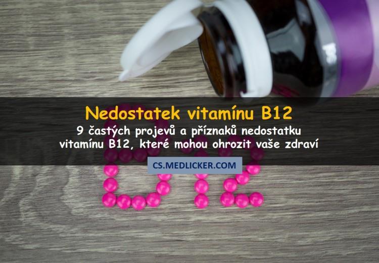 9 příznaků a projevů nedostatku vitamínu B12