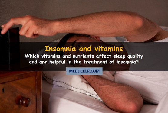 Vitamins and nutrients for insomnia