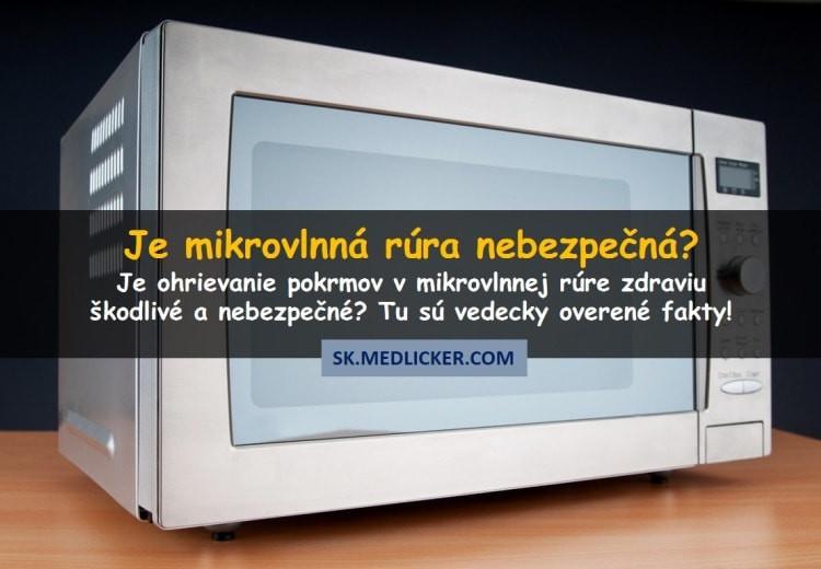 Škodí mikrovlnná rúra zdraviu