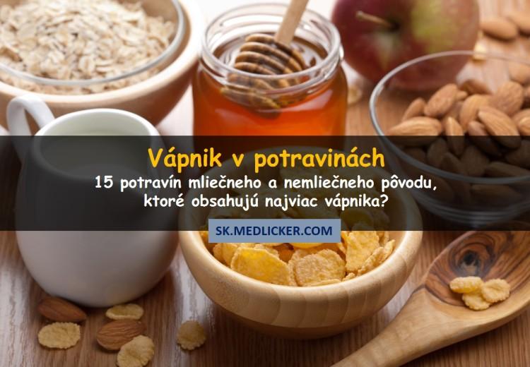 Vápnik v potravinách: 15 potravín s vysokým obsahom vápnika