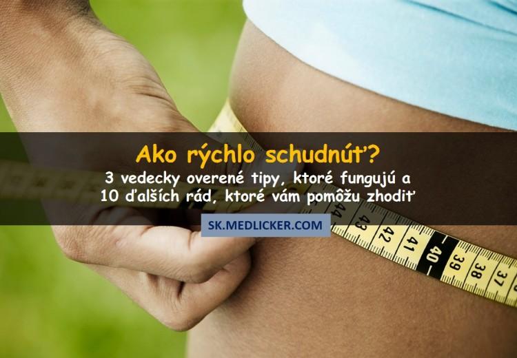 Ako rýchlo schudnúť? 3 jednoduché vedecky overené tipy, ktoré fungujú!