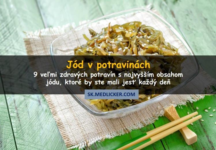 Ktoré potraviny obsahujú najviac jódu