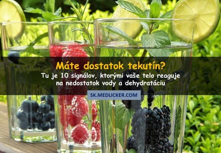 10 známok a príznakov dehydratácie